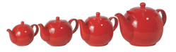 London Pottery red teapot from the Farmhouse Filter Teapots range